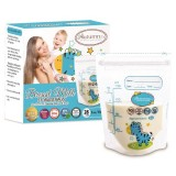Autumnz -Double Zip Lock Breastmilk Storage Bag (28 bags) *5oz* (ZEBRA)