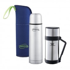 Thermos - ThermoCafe Basic Living 1.0L Flask W/Pouch + Food & Beverage Jar 750ml