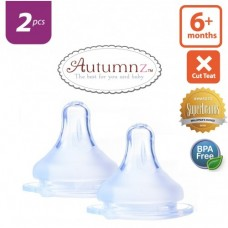 Autumnz - MAXY Soft Silicone Teat FAST Flow *2pcs* (6+ months / X-Cut)