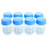 Autumnz - Wide Neck Breastmilk Storage 8 Bottles (5oz) Lullaby *Victoria Blue*