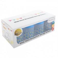 Autumnz - Wide Neck Breastmilk Storage 8 Bottles (5oz) Lullaby *Victoria Blue*