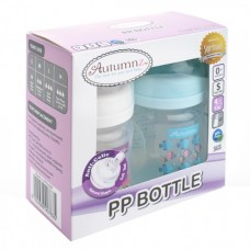 Autumnz - PP Wide Neck Feeding Bottle 4oz/120ml (Twin) *Tweety / Marine Blue*