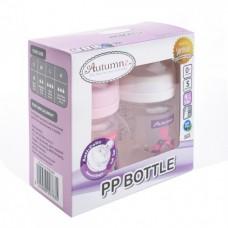 Autumnz - PP Wide Neck Feeding Bottle 4oz/120ml (Twin) *Tweety / Marine Pink*