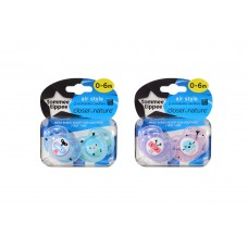 Tommee Tippee - CTN Air Style Soother (0-6 mths) Twin Pack *Pink*