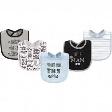 Hudson Baby - Interlock & Terry Drooler Bib 5pk *51777*