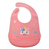 Snapkis - Oh-So-Soft Silicone Bib *Unicorn*