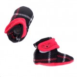* CuddleMe - Fitted Baby Booties *CHECK BLACK*