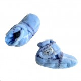 * CuddleMe - Fitted Baby Booties *CHECK BLUE*