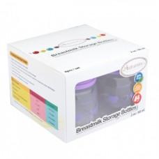 Autumnz - Standard Neck Breastmilk Storage Bottles *2oz* (4 btls) - Heart *Lilac*