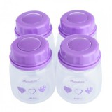 Autumnz - Standard Neck Breastmilk Storage Bottles *2oz* (4 btls) - Heart *Lilac*