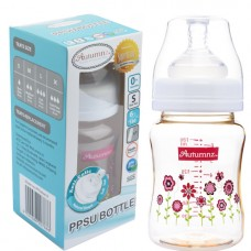 Autumnz - PPSU Wide Neck Feeding Bottle 6oz/180ml (Single) *Blooming Pink*