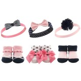 Hudson Baby - Headband & Socks Gift Set 6pk *BEST BUY* (58137)