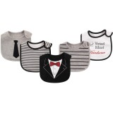 Hudson Baby - Interlock & Terry Drooler Bib 5pk *71056*