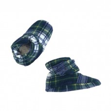 * CuddleMe - Fitted Baby Booties *CHECK GREEN*