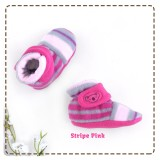 2d4fab6da CuddleMe - Fitted Baby Booties *STRIPE PINK*