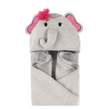 Little Treasure - Animal Hooded Towel (Elephant Pink)