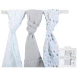 Luvable Friends - Muslin Swaddle Blankets 3pk (40188)