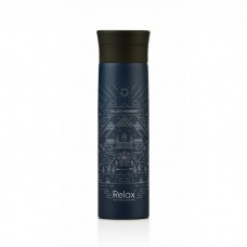 "Relax - 18.8 Stainless Steel Thermal Flask ""COLLECT MOMENTS"" 500ML (Metallic Blue) *BEST BUY*"