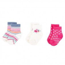 Touched By Nature - Baby Organic Socks 3pk (6-12M) *66462*