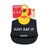 Snapkis - Oh-So-Soft Silicone Bib *Just Eat It*