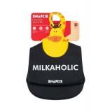 Snapkis - Oh-So-Soft Silicone Bib *Milkaholic*