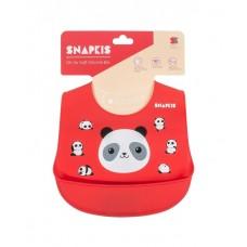 Snapkis - Oh-So-Soft Silicone Bib *Panda II*