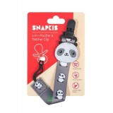 Snapkis - 2-in-1 Pacifier & Teether Clip *Panda*