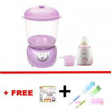 Autumnz - 2-in-1 Electric Steriliser & Dryer (Lilac) + Home Warmer Combo *with FREE GIFT*