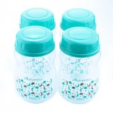 Autumnz - Wide Neck Breastmilk Storage Bottles *7oz* (4 btls) Lullaby *Turquoise*