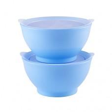 Elipse Kids - Stage 1 Bowl Set with Lids 8oz *Light Blue*