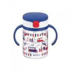 Richell - AQULEA Clear Straw Bottle Mug R 200 *Navy Blue*