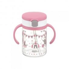 Richell - AQULEA Clear Straw Bottle Mug R 200 *Pink*