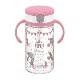Richell - AQULEA Clear Straw Bottle Mug R 320 *Pink*