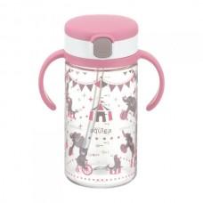 Richell - AQULEA Clear Straw Bottle Mug R 320 *Pink*