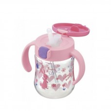 Richell - T.L.I Straw Bottle Mug *Pink*