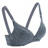 Autumnz - Maya Nursing Bra (No underwire) *Grey Stripe*