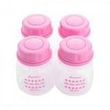 Autumnz - Standard Neck Breastmilk Storage Bottles *2oz* (4 btls) - Jovial Pink