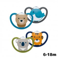 NUK- Space Silicone Soother S2 W/Cover (6-18m) *2pcs*