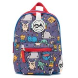 Babymel - Zip & Zoe Mini Backpack & Safety Harness / Reins Age 1-4 Years (Monster)