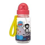Babymel - Zip & Zoe Drinking Bottle with Straw (Monster)