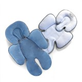 * CuddleMe - Head & Body Support Seat Pad *WHITE STONE BLUE*