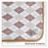 * CuddleMe - Dry Pad (Waterproof Mattress Protector) *DIAMOND CREEME*