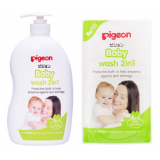 Pigeon - Baby Wash 2in1 1 Litre + Refill 900ML *BEST BUY*