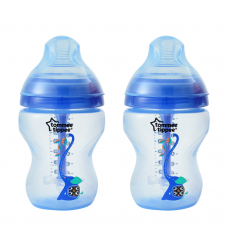 Tommee Tippee - CTN Anti Colic Plus Twin Bottle 260ml - Blue
