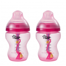 Tommee Tippee - CTN Anti Colic Plus Twin Bottle 260ml - Pink