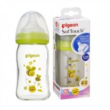 Pigeon - Wide Neck GLASS Nursing Bottle 160ml - Bee