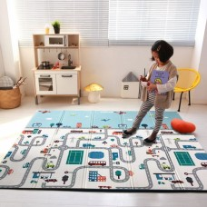 AUTUMNZ PE Foldable Baby Playmat - SIZE L *Busy City / Happy Bear*