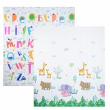 AUTUMNZ PE Foldable Baby Playmat - SIZE L *Jungle Safari / Alphabets*