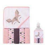 Luvable Friends - Hooded Towel & 5pcs Wash Clothes *05284*
