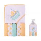 Luvable Friends - Hooded Towel & 5pcs Wash Clothes *05287*